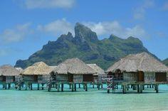View from our private beach - Picture of Four Seasons Resort Bora Bora, Bora Bora - TripAdvisor