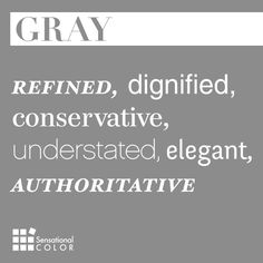 Words That Describe Gray - Sensational Color