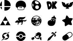 Super Smash Bros Melee Icons by one-seb on DeviantArt