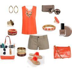 Orange & Khaki together