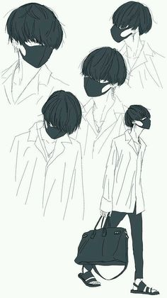 Past Necromancer - Trailer stuff (Orange) Kpop Drawings, Anime Drawings Sketches, Anime Sketch, Drawing Reference Poses, Drawing Tips, Image Manga, Kpop Fanart, Anime Style, Anime Boys