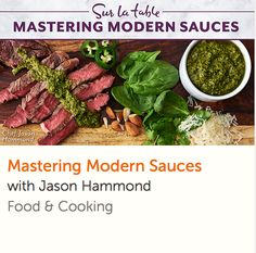 Take your meals from bland to bold in minutes! Learn essential techniques and unique combinations for flavorful sauces with Sur La Table's Jason Hammond. Thai Cooking, Cooking For Two, Healthy Cooking, Healthy Recipes, Online Cooking Classes, Cake Decorating Classes, No Bake Cake, Bon Appetit, Crockpot Recipes