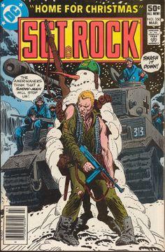 A cover gallery for the comic book Our Army at War Comic Book Pages, Dc Comic Books, Comic Book Covers, Comic Art, Marvel Comics Superheroes, War Comics, Archie Comics, Gi Joe, Joe Kubert