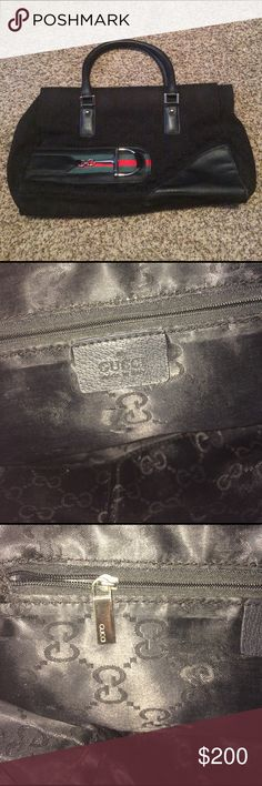 Gucci purse A Gucci purse! This is a nice Gucci bag, there is some dings here and there and it is a used bag. it overall it's a nice bag, I'm not sure if it's authentic or not. But I mean it's GUCCI!  Gucci Bags