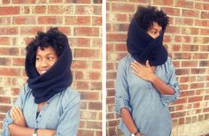 super easy from sweater to chic cowl tutorial by Whitney at freshlygiven.