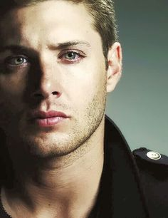 Dean Winchester / Jensen Ackles how is it that I can actually see his green eyes in this black and white photo?