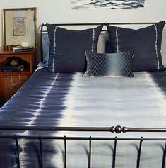 DefiningElegance.com presents Kevin O'Brien Studio Shibori Bedding.