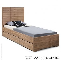 Anna Twin Trundle Bed by Whiteline