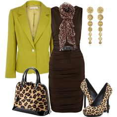 """Animal print"" by outfits-de-moda2 on Polyvore"