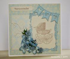 vintage baby card blue