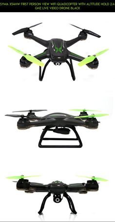 Syma X54HW First Person View Wifi Quadcopter with Altitude Hold 2.4 Ghz Live Video Drone Black #altitude #camera #kit #technology #parts #products #tech #drone #fpv #gadgets #syma #hold #racing #plans #shopping