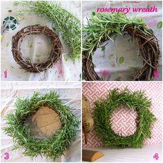 Tiny rosemary wreath.