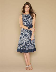 Gretel Floral Dress | Navy | Monsoon