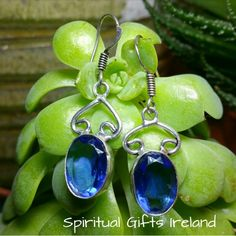 Handcrafted Iolite Ocean Earrings.   Slight imperfections may exist due to the unique, one of a kind, handmade nature of these earrings. 925 Sterling Silver.  Shop now at www.spiritualgiftsireland.com OR follow us on www.facebook.com/spiritualgiftsireland www.instagram.com/spiritualgiftsireland www.etsy.com/shop/spiritualgiftireland