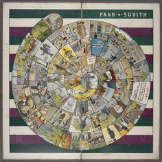 "Pank-a-Squith, the boardgame shown above, was produced by the WSPU as a fundraiser in 1909-1910. It was first advertised in the WSPU's journal, Votes for Women, on 22 Oct 1909. The game could be ordered by mail or purchased in one of the WSPU's many ""Votes for Women"" high-street shops."