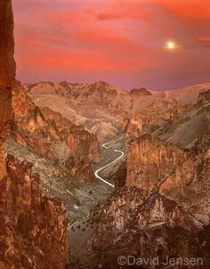 """Owyhee Moonrise"" Oregon's Leslie Gulch, a tributary in the Owyhee River Canyonlands."
