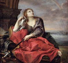 """Andrea Sacchi. """"La muerte de Dido"""".Dido o Elisa de Tiro aparece como la fundadora y primera reina de Cartago"""