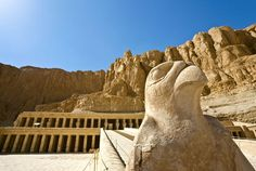 Temple of Queen Hatshepsut and the Colossi of Memnon. Travel Trolley has a wide range of information about Egypt whether its about nearby hotels,Flights and Local attractions in Egypt Egypt Information, Nile River, Egypt Travel, Local Attractions, Religion, Monument Valley, Mount Rushmore, Places To Go, Viajes