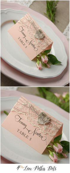 Lace Wedding Place card #weddingideas #placecard #rustic #boho #bohemian #weddingstationery