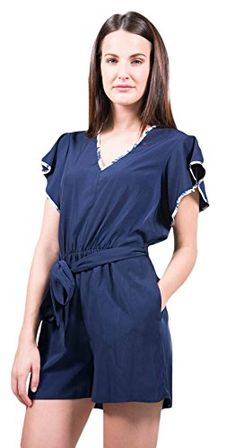 6bff739c1c95 Shoshanna Womens Romper 2 Blue -- Learn more by visiting the image  link.(This is an Amazon affiliate link and I receive a commission for the  sales)   ...