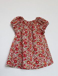 """Image of """"Rouge Betsy"""" Blouse ou robe 2/12 ans"""