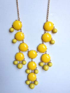 Yellow Bubble Bib Necklace Similar to Jcrew Bubble by ilycouture, $49.00