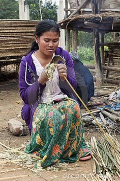 Basket making - Lao People's Democratic Republic..