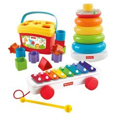 Fisher-Price® Classic Infant Trio Gift Set-includes stacker, first block set, and little xylophone $31.99
