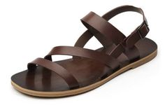 2-Color-US-Size-5-11-New-Recreational-Leather-Mens-Buckle-Sandals-Strap-Shoes