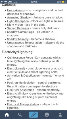 Using this because my character is super smart and always comes up with a comparison to powers
