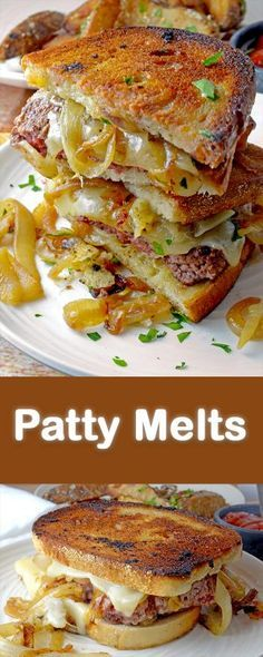 these Patty Melts on Martin's New Old-Fashioned Real Butter Bread!Try these Patty Melts on Martin's New Old-Fashioned Real Butter Bread! Sandwich Bar, Salami Sandwich, Panini Sandwiches, Grilled Sandwich, Soup And Sandwich, Wrap Sandwiches, Sandwich Ideas, Sandwich Spread, Sandwich Melts