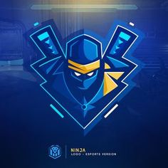 Inséré Logo Esport, Art Logo, Logo Branding, Gfx Design, Game Logo Design, Ninja Wallpaper, Ninja Logo, Esports Logo, Mascot Design