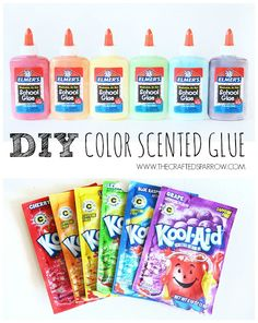DIY Scented Colored Glue - thecraftedsparrow.com