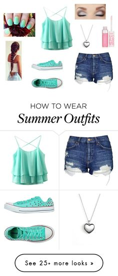 """Summer outfit"" by liviflippin on Polyvore featuring Pandora, Topshop, Converse and Maybelline"