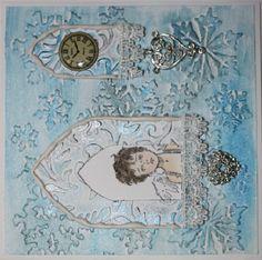 Weihnachtskarte für Danis Adventskalender  http://danielarogall.de/danis-adventskalender-2014/ - Tür 14,  Karte, verwendete Materialien: Inka Gold, Relief-Papierpaste - Daniela Rogall