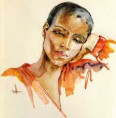 In 1989, at age 59, without formal training as an artist, she started creating watercolor portraits. Description from experiencela.com. I…