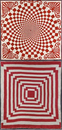 There is a collection of 650 red and white American quilts at the Park Avenue Armory in NY that look like they could literally blow your mind.