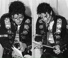 "MJ signing his autograph :) The King of Style, Pop, Rock and Soul! |  Michael Jackson Photo Collage & Montages that I love! - by ⊰<a href=""/carlamartinsmj/"" title=""Carla mMJking - 'Soul&Genius'"">@Carla mMJking - 'Soul&Genius'</a>⊱"