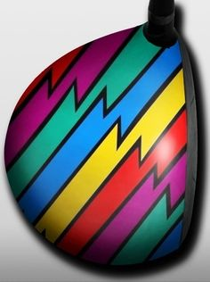 Personalized golf driver decal by Big Wigz Skins - Loudmouth Captain Thunderbolt.  Buy it @ ReadyGolf.com