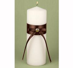 Mocha Dream Wedding Candle