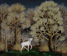 Deer in the Forest (1956), by Ivan Generalic, via Croatian Museum of Naive Art