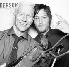 Reedus & Anderson Cooper