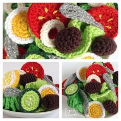 Mode Crochet, Crochet Diy, Crochet Food, Food Patterns, Crochet Toys Patterns, Stuffed Toys Patterns, Fruits En Crochet, Crochet Patron, Doll Tutorial