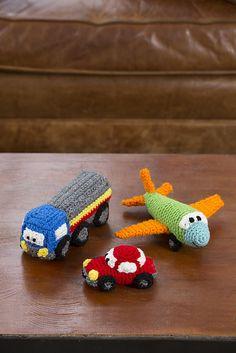 Ravelry: Happy Little Car, Plane & Truck pattern by Rebecca J. Venton