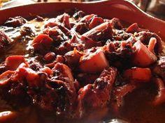 Receita de Polvo Guisado à moda de S. Miguel (Açores) | Cozinha Tradicional