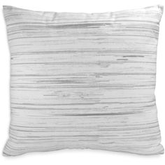 "Dkny Loft Stripe Printed Stripe Decorative Pillow, 16"" x 16"" (12 KWD) ❤ liked on Polyvore featuring home, home decor, throw pillows, white, canvas home decor, white throw pillows, white toss pillows, striped throw pillows and stripe throw pillows"