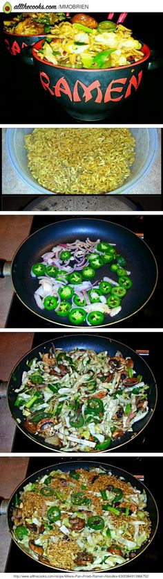 Goat Cheese Scallion Spread Recipe by Aaron Rowe Top Ramen Recipes, Ramen Noodle Recipes, Ramen Noodles, Asian Recipes, Soup Recipes, Vegetarian Recipes, Healthy Recipes, Fried Ramen, Baby Food Recipes