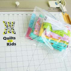 quilts for kids kits - $6 for shipping, you make the quilt and send to organization for hospitalized kiddos.
