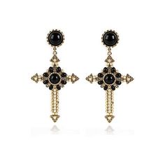 56b36229ac86 My oh my river islands baroque cross earrings very classy yet a reminder of  where the baroque style came from. Glam it up with the river island baroque  ...