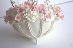 Wedding Cake Topper Handmade Clay Parasol Umbrella Cake by parsi